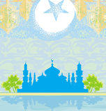 Abstract religious background - Ramadan Kareem Vector Design Stock Photo