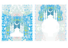 Abstract religious card set - Ramadan Kareem  Design Royalty Free Stock Images