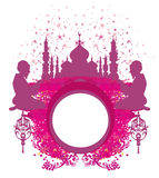 Abstract religious frame - muslim man praying Royalty Free Stock Images