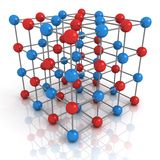 Abstract render of network structure concept Royalty Free Stock Image