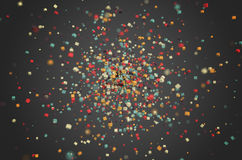 Abstract Rendering of Colored Chaotic Particles Stock Images