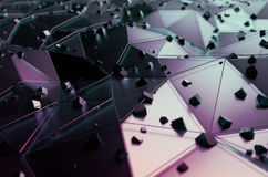 Abstract Rendering of Surface with Random Cubes Stock Photos