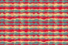 Abstract rendy horizontal background with geometric wavy texture. EPS 10 royalty free illustration