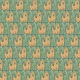 Abstract repeat pattern cats dogs Royalty Free Stock Photo