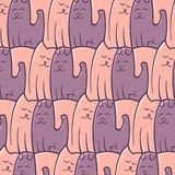 Abstract repeat pattern cats dogs romantic Stock Photos
