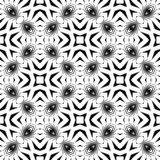 Black and white SEAMLESS GEOMETRIC pattern. Abstract repeated pattern ,geometric ,back ground.black and white ,print and laser cut roof or bed sheet ,tiles Royalty Free Illustration