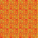 Abstract repeating pattern of multi-colored lines, squares and c. Ircles.Vector Stock Image