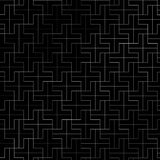Abstract repeating plus pattern silver color geometric on black vector illustration