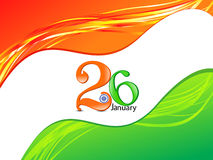 Abstract republic day flag Royalty Free Stock Photo