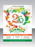 Abstract republic day flyer template Stock Image