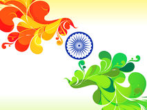 Abstract republic day mail Stock Images