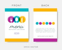 Abstract restaurant menu template vector illustration