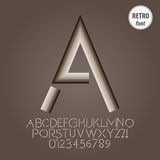 Abstract Retro Alphabet and Digit Vector Royalty Free Stock Image