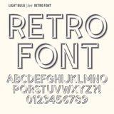 Abstract Retro Alphabet and Digit Vector Stock Photography