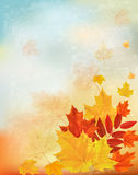 Abstract retro autumn background for your design. Royalty Free Stock Photo