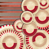 An abstract retro background. In 60s style Stock Image