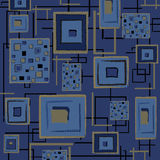 Abstract retro background - blue. A blue abstract retro background with squares, useful as pattern.EPS file available Royalty Free Stock Images