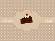 Abstract retro background with cake. Vector illustration of abstract retro background with cake Royalty Free Stock Photos
