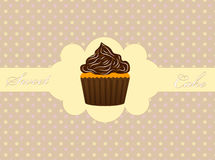 Abstract retro background with muffin Royalty Free Stock Photography