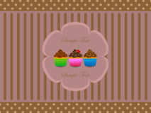 Abstract retro background with muffin. Vector illustration of abstract retro background with muffin Royalty Free Stock Photo