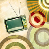 An abstract retro background with old tv Stock Photos