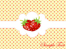 Abstract retro background with strawberry. Vector illustration of abstract retro background with strawberry Royalty Free Stock Images