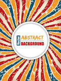 Abstract retro background with text container Stock Images