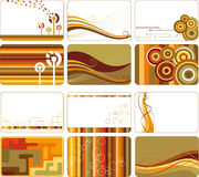 Abstract retro backgrounds. E.g. for business cards Royalty Free Stock Images