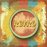 Abstract retro banner on grunge background Stock Photography