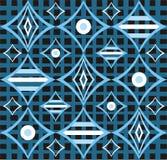 Abstract retro blauw ontwerp stock illustratie