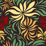 Abstract retro bloem naadloos patroon Stock Afbeeldingen