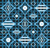 Abstract retro blue design Royalty Free Stock Images
