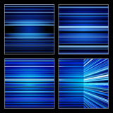 Abstract Retro Blue Striped Colorful Backgrounds S Royalty Free Stock Image