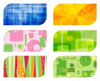 Abstract retro business card b Stock Image