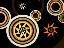 Abstract retro circles Royalty Free Stock Image