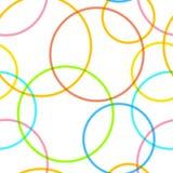 Abstract retro cirkels naadloos patroon Royalty-vrije Stock Afbeeldingen