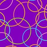 Abstract retro cirkels naadloos patroon Stock Foto