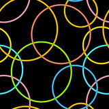 Abstract retro cirkels naadloos patroon Royalty-vrije Stock Fotografie