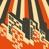 Abstract retro city background Royalty Free Stock Photo