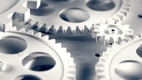 Abstract Retro Clock Gears Stock Photos