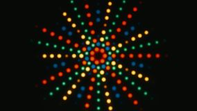 Abstract Retro Colorful Star Lights On Black