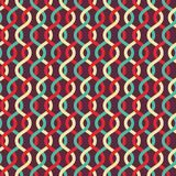 Abstract retro curves seamless pattern. Vector Stock Photography