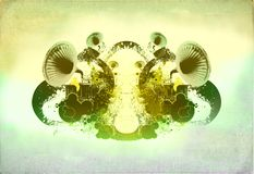 Abstract  retro design. Abstract retro look design with gramophone, party flyer background Royalty Free Stock Photography