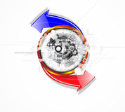 Abstract retro digital computer technology business background Royalty Free Stock Photos