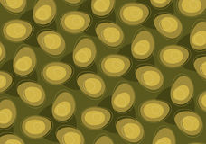 Abstract Retro Egg Pattern. In green tone Royalty Free Illustration