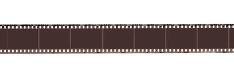 Abstract retro film strip. Isolated on a white background Royalty Free Stock Photos