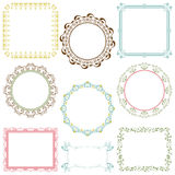 Abstract retro frame elements set. Illustration Royalty Free Stock Images