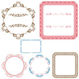Abstract retro frame elements set Stock Photo