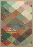 Abstract retro geometric background with bicycles. royalty free illustration