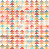 Abstract Retro Geometric Background. Triangular abstract background, colorful, transparent background stock illustration